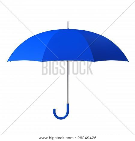 Blue Umbrella Isolated