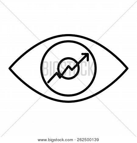 Eye Graph Thin Line Vector Photo Free Trial