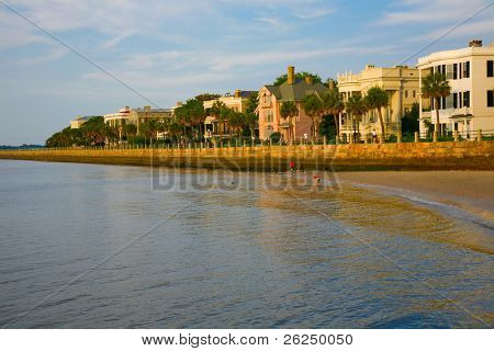 Famous waterfront homes in the battery section of Charleston, South Carolina