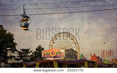 Midway at the Ohio State Fair in Columbus, Ohio