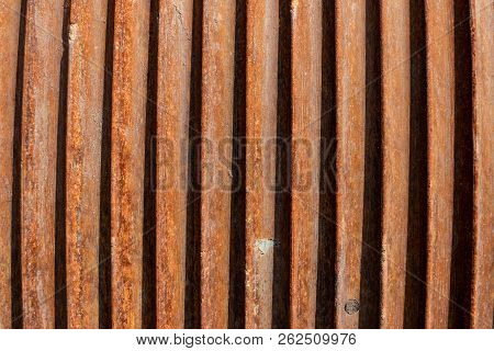 Abstract Rusty Weathered Steel Cable Spool Winch Texture Background.
