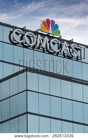 Comcast Building And Trademark Logo