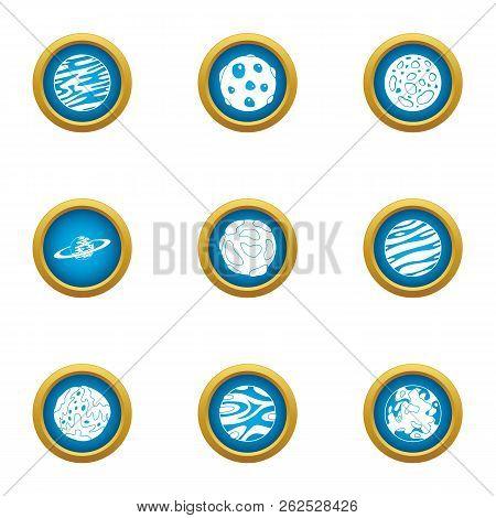 Macrocosm Icons Set. Flat Set Of 9 Macrocosm Vector Icons For Web Isolated On White Background