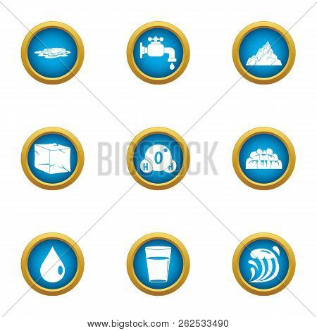 Reviver icons set. Flat set of 9 reviver vector icons for web isolated on white background poster