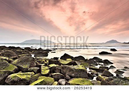 Sunrise over the sea. Condao island