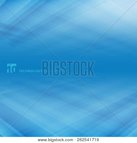 Abstract Blue  Lines Floor Of Vision Perspective Background Concept Business. Vector Illustration