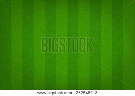 Green Grass Field Pattern For Sport Background. Grass Court For Soccer, Football, Rugby, Golf, Baseb