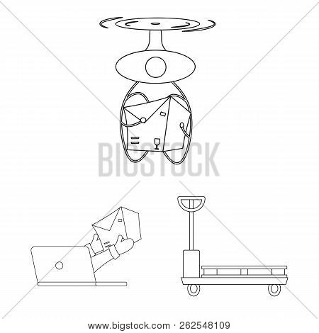 Isolated Object Of Goods And Cargo Symbol. Set Of Goods And Warehouse Stock Symbol For Web.