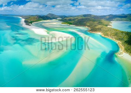 Hill Inlet At Whitehaven Beach On Whitesunday Island, Queensland, Australia