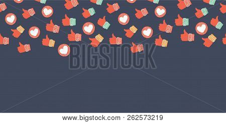 Vector Cartoon Funny Illustration Of Social Network Icons Abstract Get More Likes. Background For We