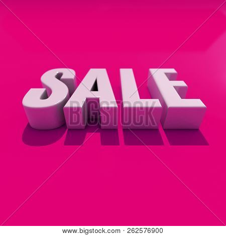 3d Sale Word With Shadow, 3d Rendering, Sale Word Typography, Sale Concept 3d, 3d Render Of The Word