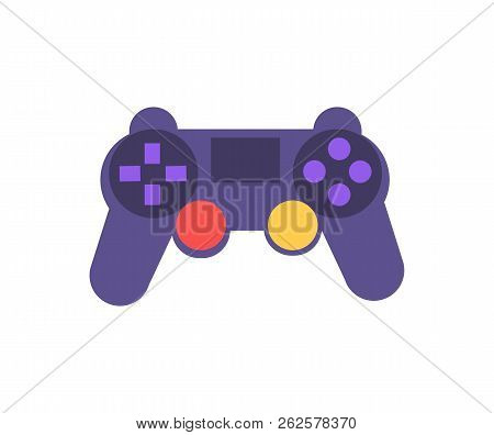 Modern Gamepad For Games, Video Console For People Love Enjoying Gaming Process, Digital Era And Mod