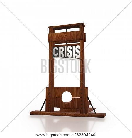 Business concept of crisis and recession - 3d rendering poster