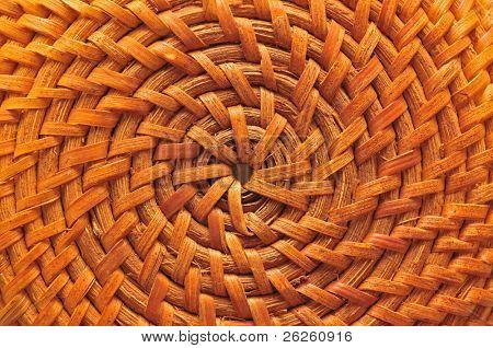 circular basketry handmade natural asian background