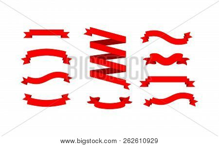 Ribbon Vector Image, Ribbon Red Color Image, Ribbon Eps10