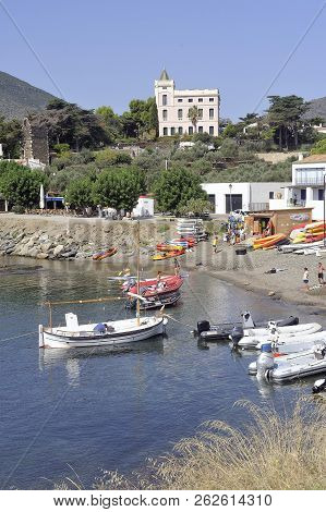 Cadaques, Spain - September 6, 2018: Panorama Of The Village Of Cadaques In The Spanish Region Of Ca