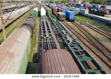 Railway goods station in the Vladivostok