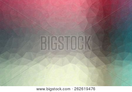 Abstract Illustration Of Red, Yellow, Gray And Blue Contrast Oil Painting Background