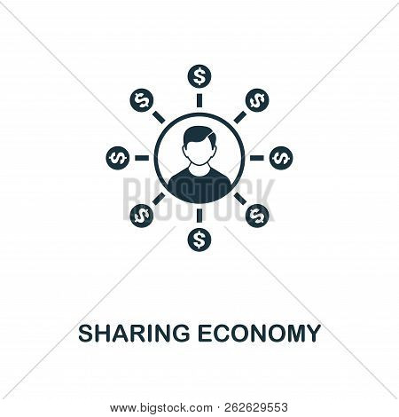 Sharing Economy Icon. Monochrome Style Design From Fintech Icon Collection. Ui And Ux. Pixel Perfect