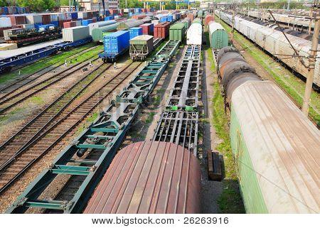 Railway goods station in the russian Vladivostok