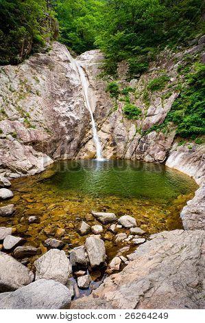 Famous Biryong Waterfall at Seoraksan National Park, South korea