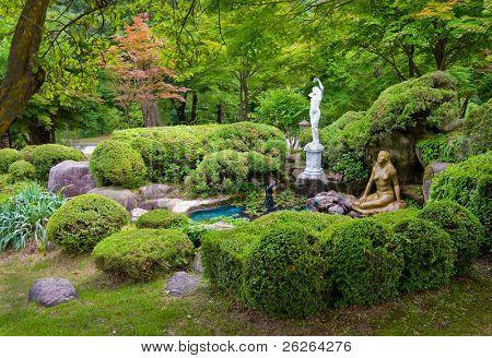 landscape outdoor garden design at Sokcho, Korea