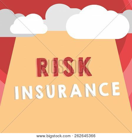 Handwriting Text Writing Risk Insurance. Concept Meaning The Possibility Of Loss Damage Against The