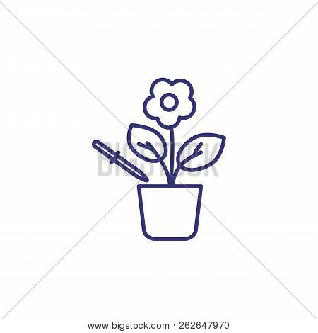 Plant Enrichment Line Icon. Science, Biology, Investigation. Science Concept. Vector Illustration Fo