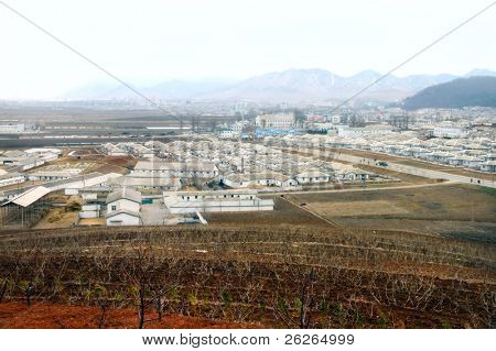 View of the typical North Korea village