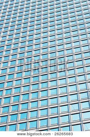 Modern glass skycraper wall abstract background