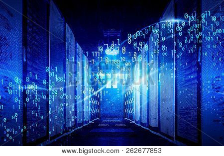 Visualization Of Big Data Digital Data Streams In The Data Center. The Concept Of Big Data Informati