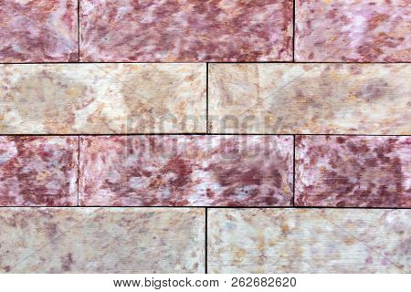 Sidewalk Stone, Texture Of A Decorative Stone For Paving Of Sidewalks And Roads. Stone Rectangular Y