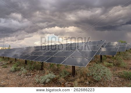 Solar panel green energy landscape
