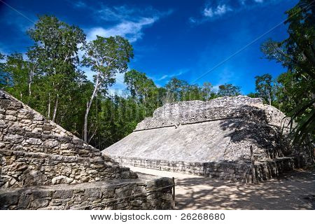 small ballcourt for the old mayan game
