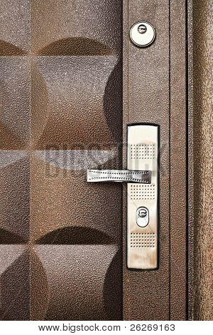 metallic door background