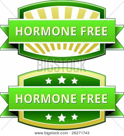 Hormone free food label