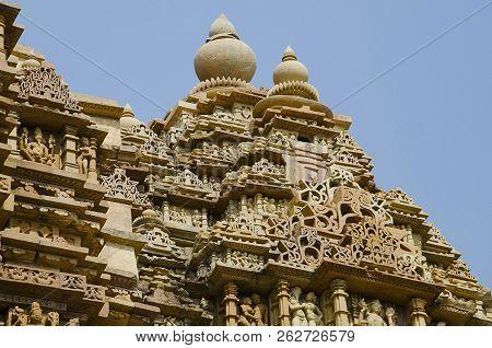 Kandariya Mahadev Temple, Shikara - Top View, Western Group, Khajuraho, Madhya Pradesh, India, Unesc