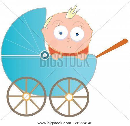 Baby in perambulator
