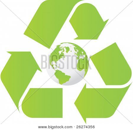 Recycle world poster