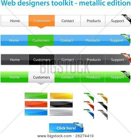 Web designers toolkit - metallic edition
