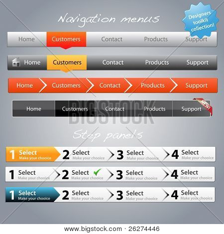 Web designers toolkit - Navigation menus and step panels part 2