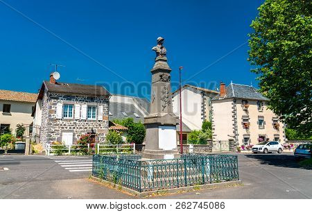 War Memorial In Roffiac Village, The Cantal Department Of France