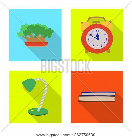 Vector Illustration Of Dreams And Night Sign. Set Of Dreams And Bedroom Stock Vector Illustration.