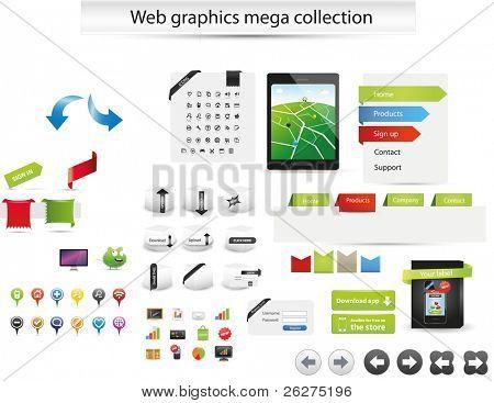 Colección de mega web gráficas