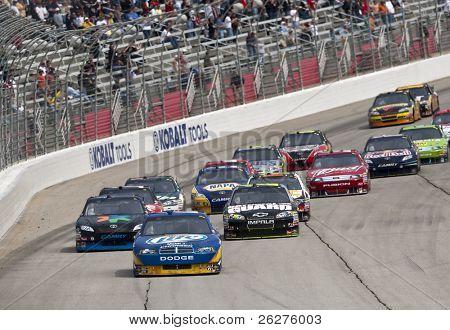 HAMPTON, GA - MAR 7: Kurt Busch races to turn one during the running of the Kobalt Tools 500 at Atlanta Motor Speedway on Mar 7, 2010 in Hampton, GA.