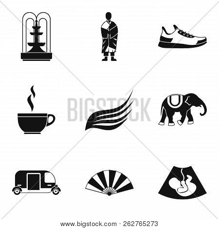 Composure Icons Set. Simple Set Of 9 Composure Icons For Web Isolated On White Background