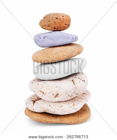 Stones Isolated On White Background.big Granite Rock Stone,.rock Stone Isolated On White Background