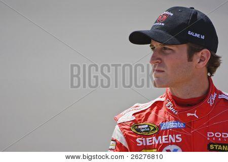 BROOKLYN, MI - JUN 12: Dodge driver, Kasey Kahne, waits to qualify for the LifeLock 400 race at the Michigan International Speedway on Jun 12, 2009 in Brooklyn, MI