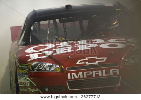 HAMPTON, GA - SEP 05:  Tony Stewart wins the Emory Healthcare 500 race at the Atlanta Motor Speedway in Hampton, GA on Sep 05, 2010.