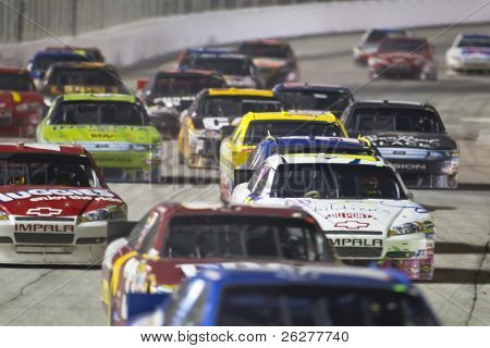 HAMPTON, GA - SEP 05:  The NASCAR Sprint Cup Series teams take to the track for the Emory Healthcare 500 race at the Atlanta Motor Speedway in Hampton, GA on Sep 05, 2010.